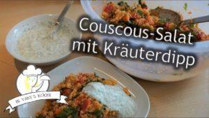 Couscous-Salat mit Kräuterdipp
