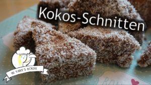 Kokos-Schnitten