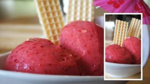 Erdbeer-Sahne-Eis