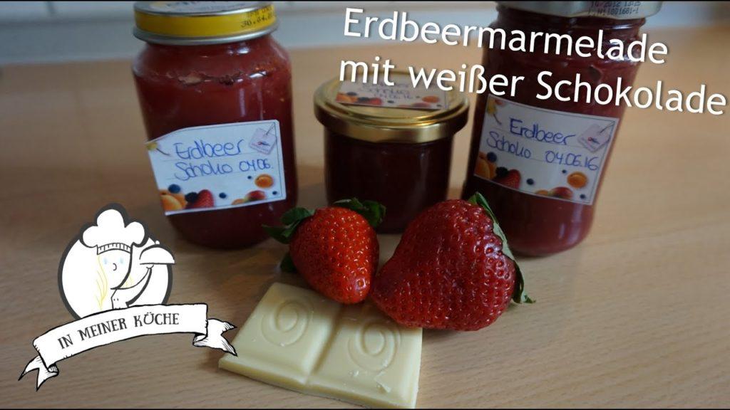 Thermomix® Erdbeermarmelade mit weißer Schokolade
