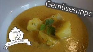 Gemüsesuppe mit Kartoffelstücke
