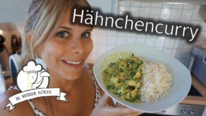 Hähnchencurry mit Blattspinat und Reis
